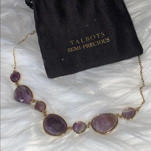 Talbots Gold Tone Semi-Precious Stone Necklace